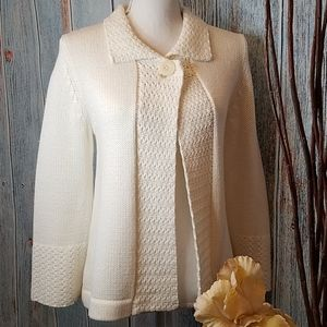 CROFT & BORROW CREAM  SWEATER